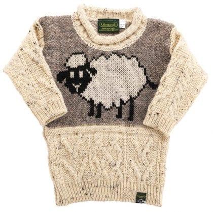 Childs Aran Sheep Jumper-0