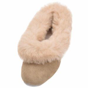 Ladies Sheepskin Lined Grecian Slippers-0