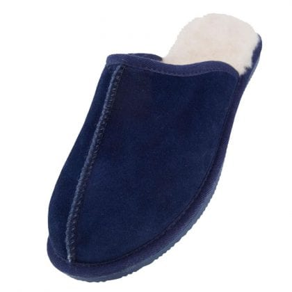 Mens Sheepskin Lined Mules