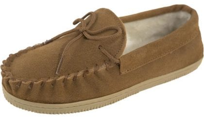 Unisex Childs Moccasin Slippers - Profile