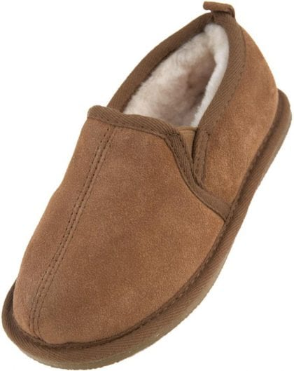 Unisex Child's Sheepskin Lined Bootee Slippers