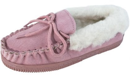 Unisex Child's Fluffy Moccasin Slippers - Profile