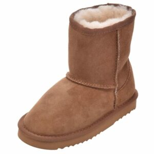 Unisex Child's Sheepskin Boots-0