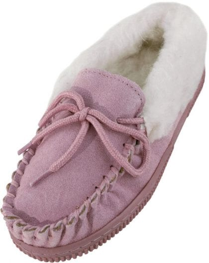 Unisex Child's Fluffy Moccasin Slippers