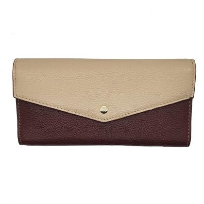 Ladies Luxury Leather Two Tone Purse-0