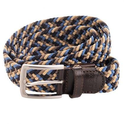Unisex Adults' Leather Elastic Woven Belt