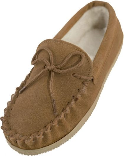 Unisex Childs Moccasin Slippers