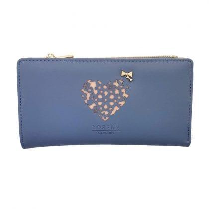 Ladies Large Faux Leather Heart Design Purse