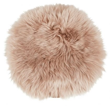Long-Haired Round Seat Cushion by Shepherd of Sweden