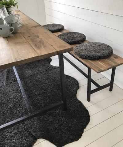 Padded Round Sheepskin Seat Cushion by Shepherd of Sweden