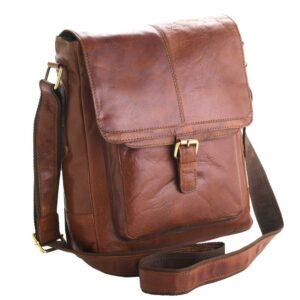 Unisex Adults' Honeydew Leather Messenger Bag