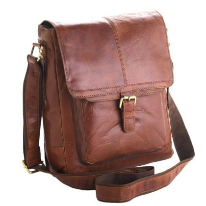 Unisex Adults' Honeydew Leather Messenger Bag