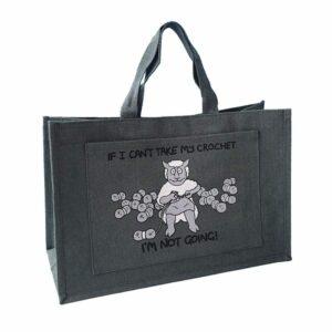 Sheep Design Jute Crochet Bag-0
