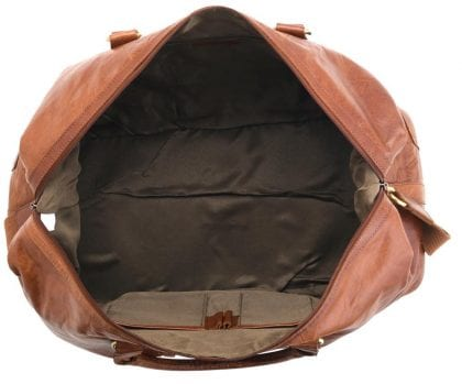 Unisex Adults' Honeydew Leather Large Holdall - Open