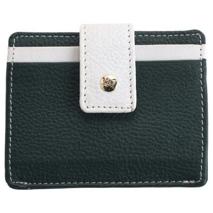 Luxury Leather Two Tone Credit Card Case