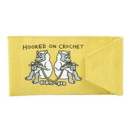 Sheep Design 'Hooked on Crochet' Hook Holder-0