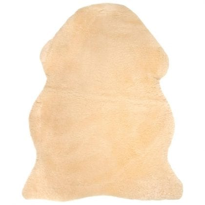 British Premium Quality Medical Sheepskin Rug in Beige-0