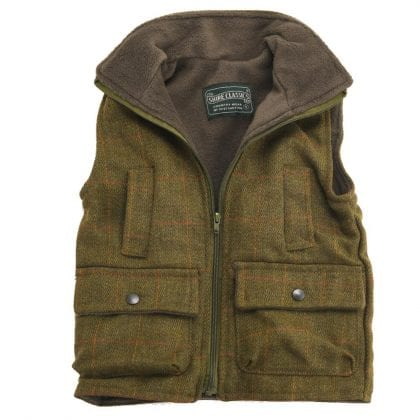 Childrens Tweed Sleeveless Coat Jacket-0