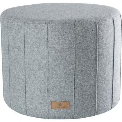 Weaved Soft Wool Pouffe by Shepherd of Sweden