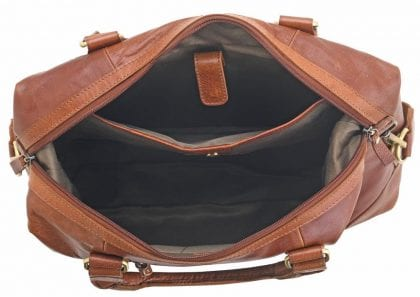 Unisex Adults' Honeydew Leather Laptop Bag - Open