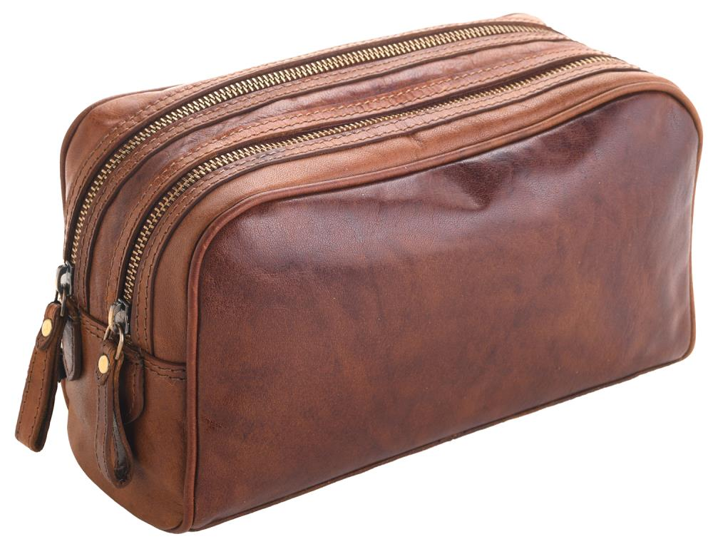 Unisex Adults' Honeydew Leather Toiletry Bag-227169