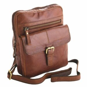 Unisex Adults' Honeydew Leather Small Messenger