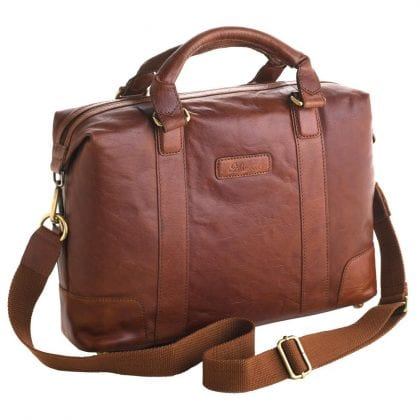 Unisex Adults' Honeydew Leather Laptop Bag