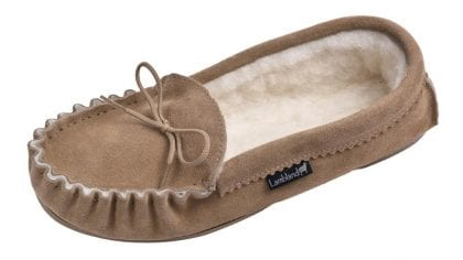 Ladies Luxury Premium Moccasin Slippers with Sole-221640