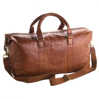 Unisex Adults' Honeydew Leather Large Holdall