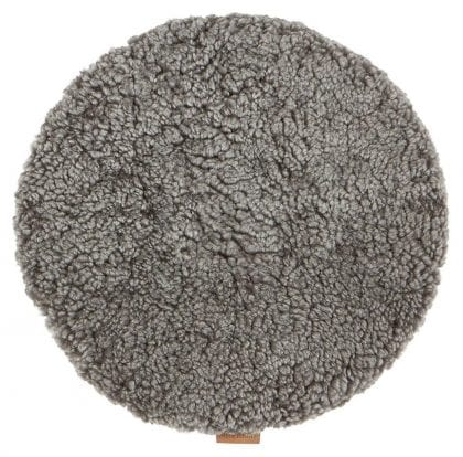 Padded Round Sheepskin Seat Cushion by Shepherd of Sweden