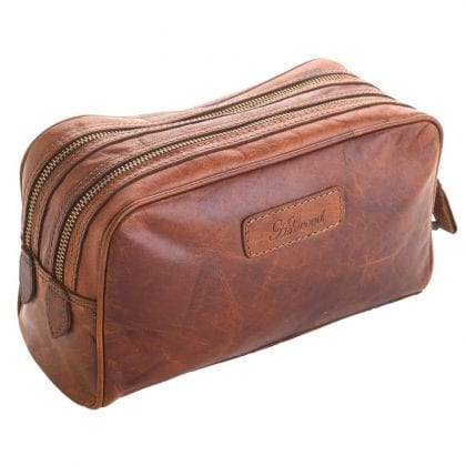 Unisex Adults' Honeydew Leather Toiletry Bag-0