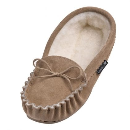 Ladies Luxury Premium Moccasin Slippers with Sole-0