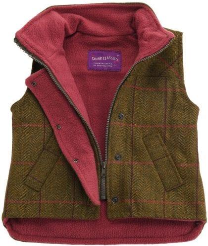 Childrens Tweed Sleeveless Coat Jacket-221546