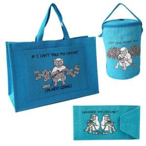 'Hooked on Crochet' Turquoise Gift Set-0