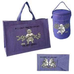 'Hooked on Crochet' Purple Gift Set-0